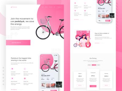 Pedalyuk - Bike Sharing App Landing Page