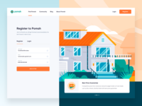 Pomah Rent House -  Register Page