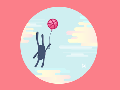 Rabbit Dribbbling Around