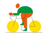 Bicycle Geometric Illustration