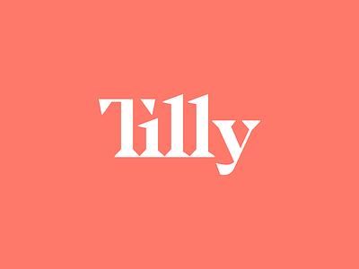 Tilly symbol logotype mark sharp geometric simple serif ligature typography type font logo