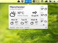 Weather Mac App (White version)