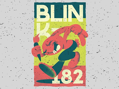Blink '82 illustration graphic design t-shirt design