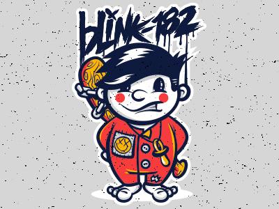 Blink-182 Baby punk illustration graphic design t-shirt design
