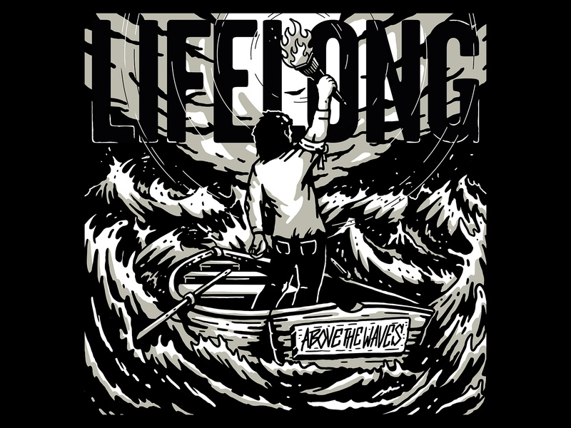 Lifelong - Above The Waves artwork album album artwork album art cover art music graphic design illustration