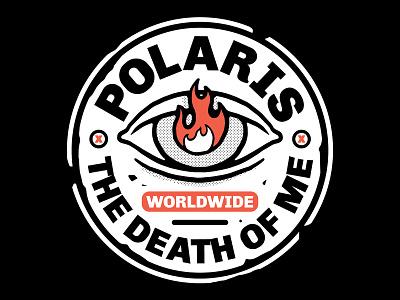 POLARIS - The Death Of Me badge music band t-shirt design fashion streetwear merch t-shirt design graphic design illustration