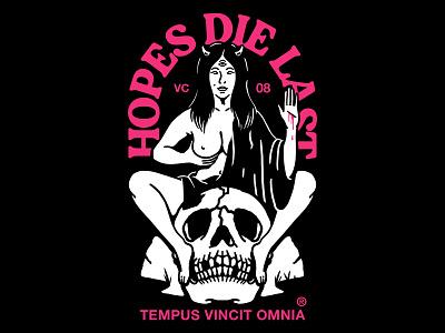 Hopes Die Last fashion music band t-shirt design streetwear merch t-shirt design graphic design illustration