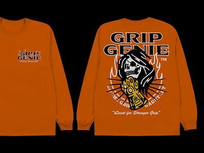 Grip Genie and The Grip Gauntlet t-shirt design fashion streetwear typography merch t-shirt design graphic design illustration