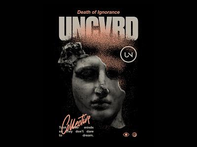 UNCVRD - D.O.I.n1 music streetwear fashion typography merch t-shirt design graphic design