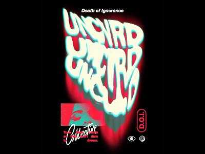 UNCVRD - D.O.I.n°2 music t-shirt design fashion streetwear typography merch t-shirt design graphic design