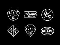 Agape Attire badges