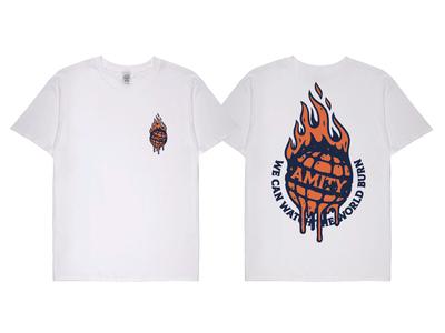We Can Watch The World Burn music band t-shirt design fashion streetwear typography merch design t-shirt graphic design illustration
