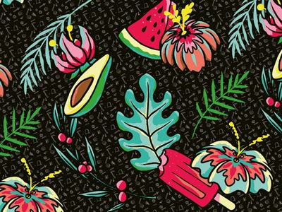 Summer pattern pattern design pattern fashion streetwear design graphic design illustration