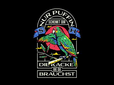 Puffin Marmelade t-shirt design lettering typography merch design t-shirt graphic design illustration