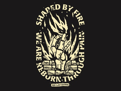 Shaped by fire band lettering fashion streetwear typography merch t-shirt design graphic design illustration