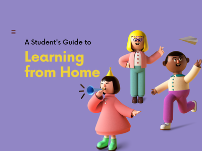 Learning from home product design branding 3d art online learning e-learning design 3d