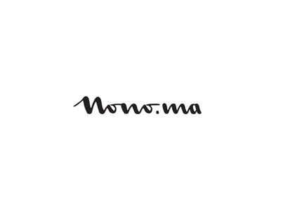Nono.ma nono personal branding vector hand-sketch lettering logo