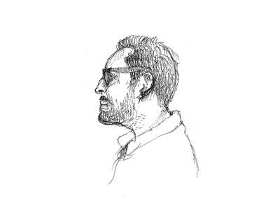 García del Castillo sketch art ink portrait person drawing urbansketch