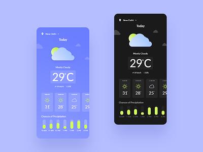 Weather App weather app design ux weather