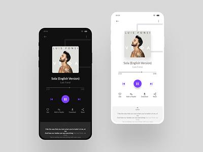 Music App UI Design ui ux listen music