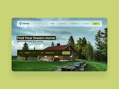 Homezy - Property Finding Website UI Design website property real estate