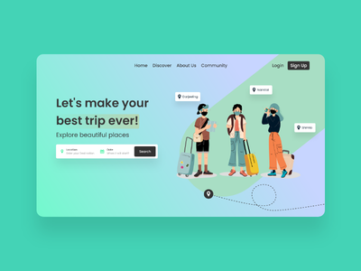 Travel Booking App UI Design travel trip