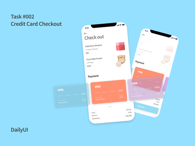 Credit Card Checkout #DailyUI 002 ui design