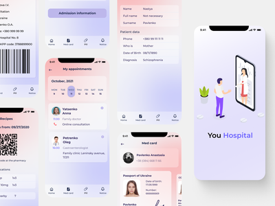Medical App app ux ui design