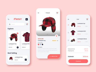 UI/UX Online Clothing Store dribbblers dribbble graphicdesigner graphicdesign mamut clothes onlineshop onlinestore estore store minimalistic minimal modern uiux app mobile userexperience userinterface ux