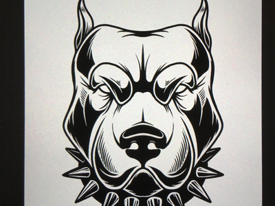 Fighting dog pet fighting dog logo mma angry dog