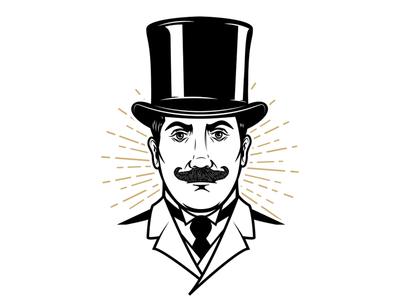 Gentleman in vintage hat