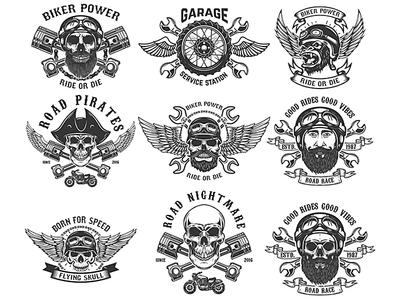 Biker Club emblems