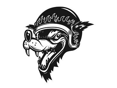 Wolf racer biker logo design logo wolf racer wolf racer