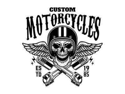 Vintage racer emblem.