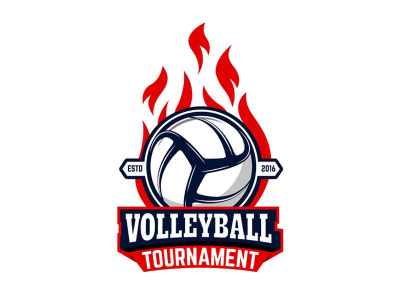 Volleyball tournament vector logo sport ball volleyball
