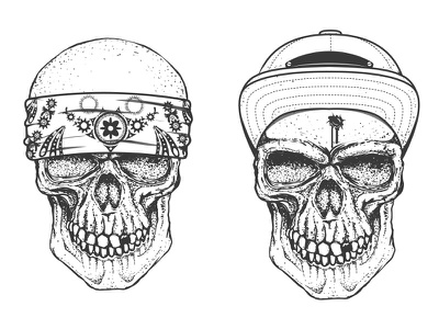 Gangsters logotype graphic design skull tattoo mafia vintage tshirts gang skull gangster