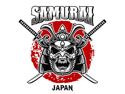 Samurai japan e logo catana samurai