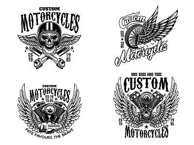 Custom Motorcucles wheel custom motorcycle motorcycle bike skull wings logo biker motor