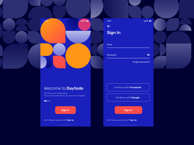 Sign In Screen To Do list App concept ios app mobile app registration form registration login todolist modern concept mobile clean interface ios app ux ui geometic colorful forms sign up sign in