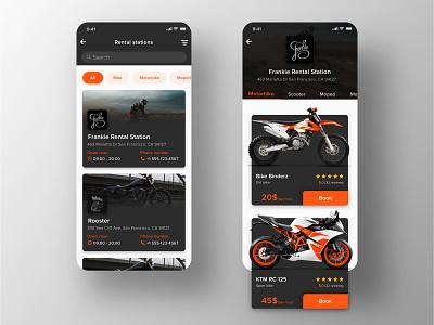Rental app Concept: Search & Booking screen VOL 2.0 ux ui search motorbike bike concept booking ecommerce retal rent interface iphone ios application app