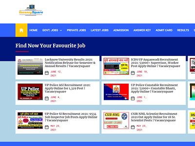 Vacancysquare: Government & Private Job Alert | Sarkari Job logo animation 3d motion graphics graphic design ui branding