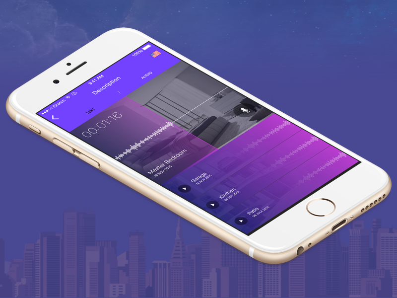 Real Estate App real estate user interface voice mobile app ui