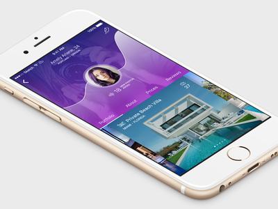 User Profile real estate user interface user account profile mobile app ui