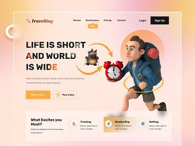 Travel Agency Website popular design travel landingpage travel web page webdesign website home page website design landing page