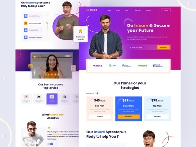 Insurance Landing Page landing page healthy startup ux ui web interface product healthcare insurance insurtech insurance company life insurance health insuranc landing page design website desig home page website webdesign web page