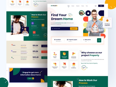 Real Estate landing page interior landing page ui home agent web design house buy sell website design buy sell website design property landing page website design real estate agent real estate landing page real estate agency real estate real estate homepage web website home page landing page