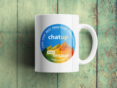 ChatUp Mug print design emblem logo emblem mug print