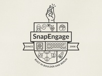 SnapEngage Coat Of Arms print design print brand design logo design branding brand logo coat of arms