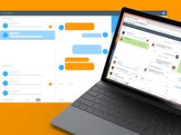 Live Chat Console Redesign conversational chat live chat desktop app uxdesign ui design product design interface ux ui design