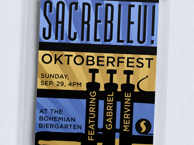 Sacrebleu! Poster In Frameless Mount